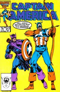 Cover Thumbnail for Captain America (Marvel, 1968 series) #317 [Direct Edition]