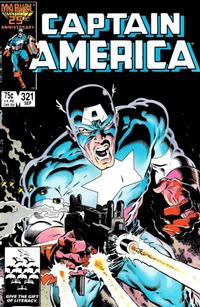 Cover for Captain America (Marvel, 1968 series) #321 [Direct Edition]
