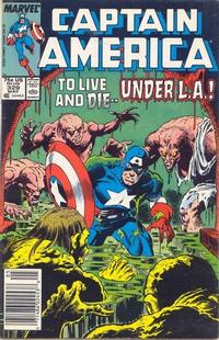 Cover Thumbnail for Captain America (Marvel, 1968 series) #329 [Newsstand Edition]