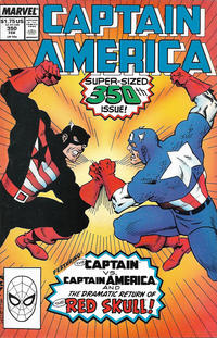 Cover for Captain America (Marvel, 1968 series) #350 [Direct]