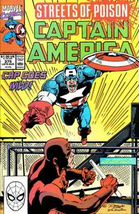 Cover for Captain America (Marvel, 1968 series) #375 [Direct Edition]