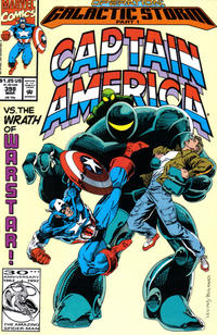 Cover for Captain America (Marvel, 1968 series) #398 [Direct Edition]