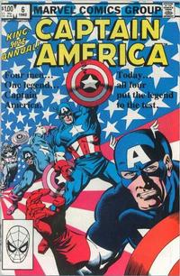 Cover Thumbnail for Captain America Annual (Marvel, 1971 series) #6 [Direct Edition]