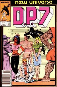 Cover Thumbnail for D.P. 7 (Marvel, 1986 series) #1 [Newsstand]