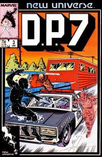 Cover Thumbnail for D.P. 7 (Marvel, 1986 series) #3 [Direct Edition]