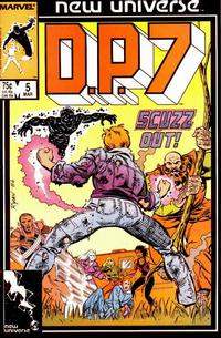 Cover Thumbnail for D.P. 7 (Marvel, 1986 series) #5 [Direct]