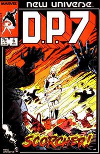 Cover Thumbnail for D.P. 7 (Marvel, 1986 series) #6 [Direct Edition]