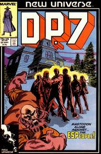 Cover Thumbnail for D.P. 7 (Marvel, 1986 series) #11 [Direct Edition]