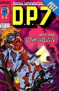 Cover Thumbnail for D.P. 7 (Marvel, 1986 series) #18
