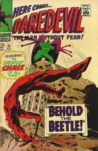 Cover for Daredevil (Marvel, 1964 series) #33 [Regular Edition]