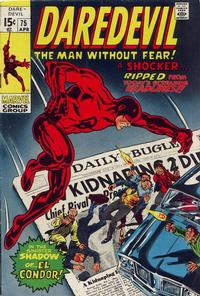Cover Thumbnail for Daredevil (Marvel, 1964 series) #75 [Regular Edition]