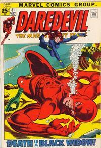 Cover Thumbnail for Daredevil (Marvel, 1964 series) #81 [Regular Edition]
