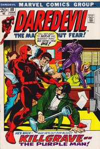 Cover Thumbnail for Daredevil (Marvel, 1964 series) #88 [Regular Edition]
