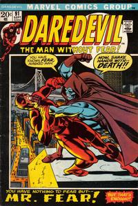 Cover Thumbnail for Daredevil (Marvel, 1964 series) #91 [Regular Edition]