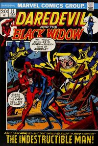 Cover Thumbnail for Daredevil (Marvel, 1964 series) #93 [Regular Edition]