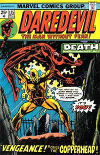 Cover Thumbnail for Daredevil (Marvel, 1964 series) #125 [Regular Edition]