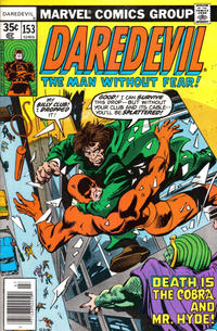 Cover Thumbnail for Daredevil (Marvel, 1964 series) #153 [Regular Edition]