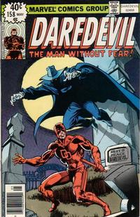 Cover Thumbnail for Daredevil (Marvel, 1964 series) #158 [Newsstand]