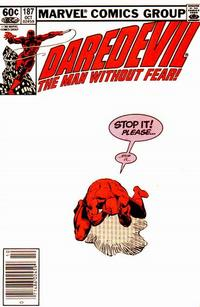 Cover for Daredevil (Marvel, 1964 series) #187 [Direct Edition]