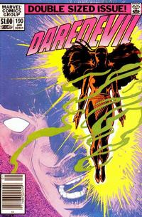Cover for Daredevil (Marvel, 1964 series) #190 [Newsstand]