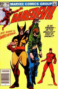 Cover Thumbnail for Daredevil (Marvel, 1964 series) #196 [Newsstand Edition]