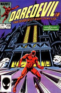 Cover Thumbnail for Daredevil (Marvel, 1964 series) #208 [Direct Edition]