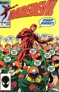 Cover Thumbnail for Daredevil (Marvel, 1964 series) #209 [Direct]