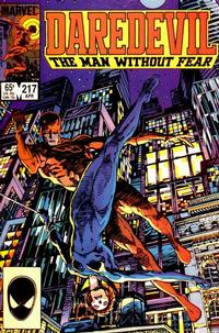Cover Thumbnail for Daredevil (Marvel, 1964 series) #217 [Direct Edition]