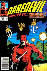 Cover Thumbnail for Daredevil (Marvel, 1964 series) #258 [Newsstand Edition]