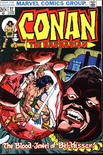 Cover for Conan the Barbarian (Marvel, 1970 series) #27 [British]