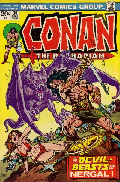 Cover for Conan the Barbarian (Marvel, 1970 series) #30 [British Price Variant]