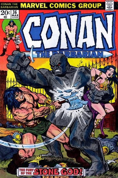 Cover for Conan the Barbarian (Marvel, 1970 series) #36