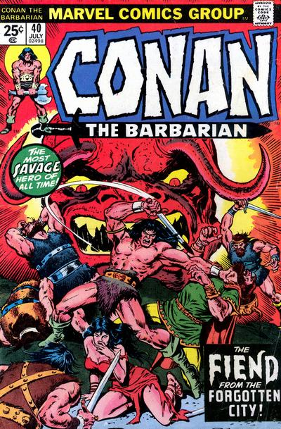 Cover for Conan the Barbarian (Marvel, 1970 series) #40