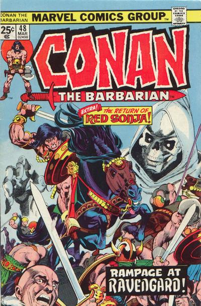 Cover for Conan the Barbarian (Marvel, 1970 series) #48 [British Price Variant]