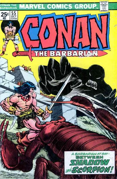 Cover for Conan the Barbarian (Marvel, 1970 series) #55
