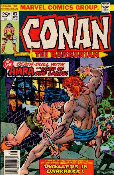 Cover for Conan the Barbarian (Marvel, 1970 series) #63 [30¢ Price Variant]