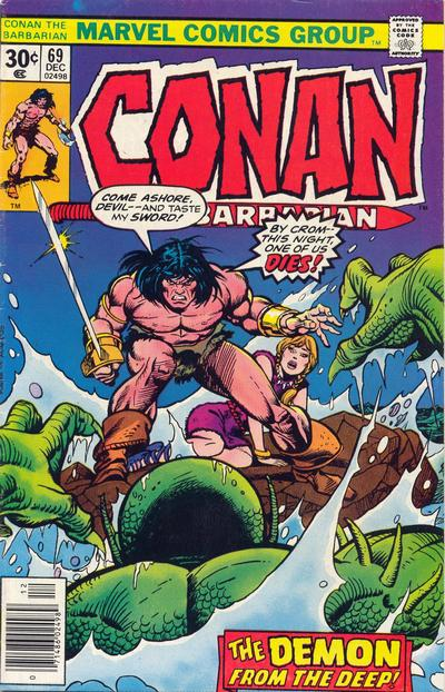 Cover for Conan the Barbarian (Marvel, 1970 series) #69 [Regular Edition]