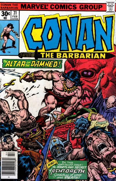 Cover for Conan the Barbarian (Marvel, 1970 series) #71 [Regular Edition]