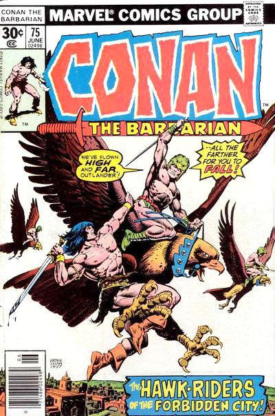 Cover for Conan the Barbarian (Marvel, 1970 series) #75 [35¢ Price Variant]