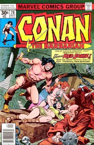 Cover for Conan the Barbarian (Marvel, 1970 series) #78 [30¢]