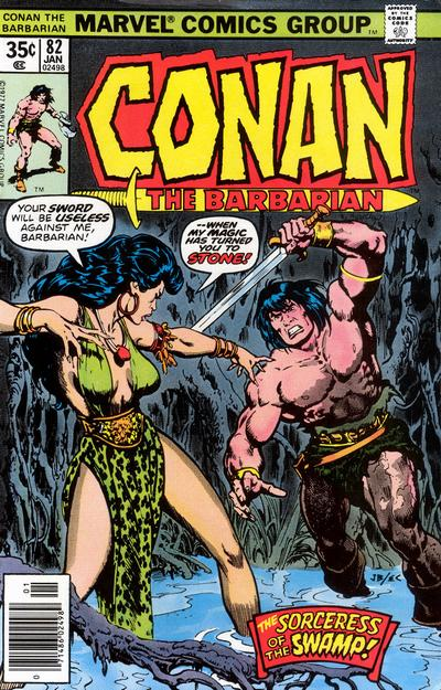Cover for Conan the Barbarian (Marvel, 1970 series) #82