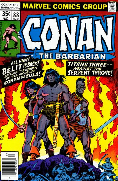 Cover for Conan the Barbarian (Marvel, 1970 series) #88