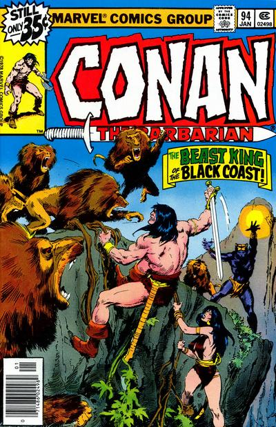 Cover for Conan the Barbarian (Marvel, 1970 series) #94 [Whitman Edition]