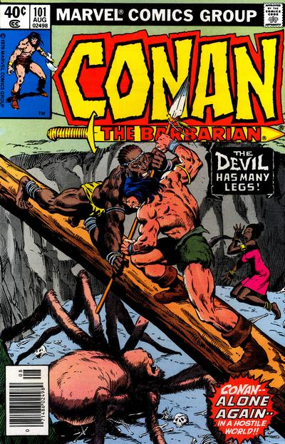 Cover for Conan the Barbarian (Marvel, 1970 series) #101 [Direct Edition]