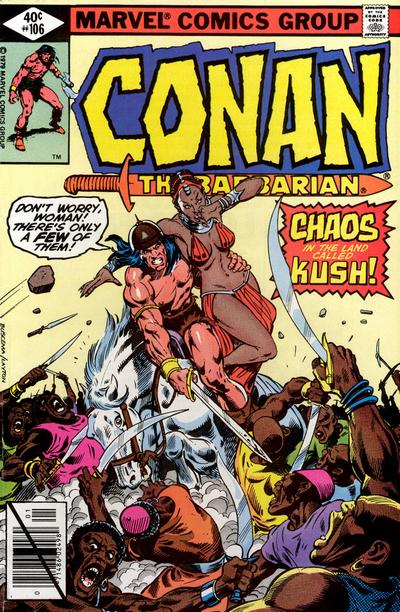 Cover for Conan the Barbarian (Marvel, 1970 series) #106 [Newsstand Edition]