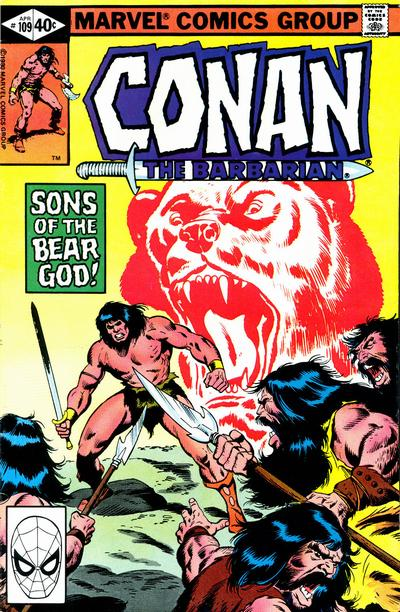 Cover for Conan the Barbarian (Marvel, 1970 series) #109 [Direct Edition]