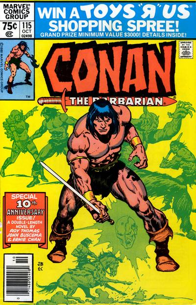 Cover for Conan the Barbarian (Marvel, 1970 series) #115 [Newsstand Edition]