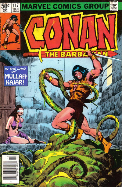 Cover for Conan the Barbarian (Marvel, 1970 series) #117 [Newsstand Edition]