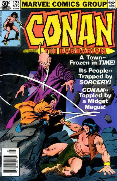 Cover for Conan the Barbarian (Marvel, 1970 series) #122 [Newsstand Edition]