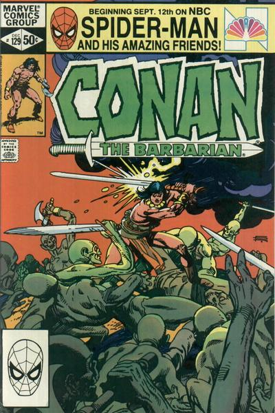 Cover for Conan the Barbarian (Marvel, 1970 series) #129 [Newsstand Edition]